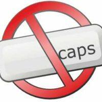 Caps Lock ausschalten
