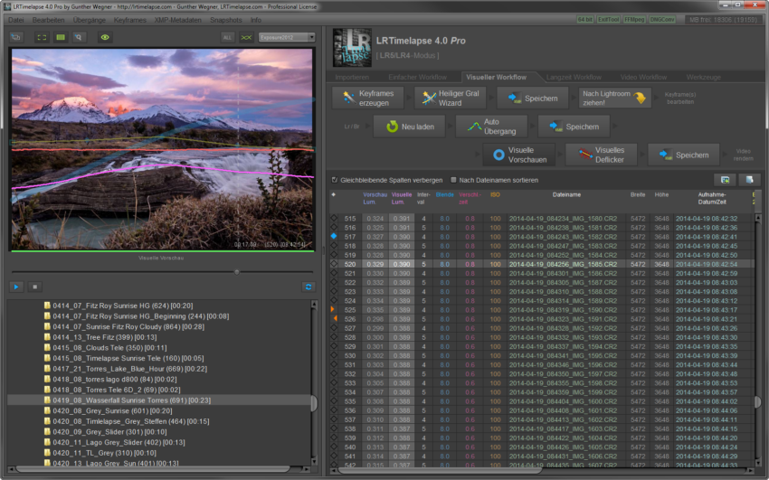 LRTimelapse Screen_DE