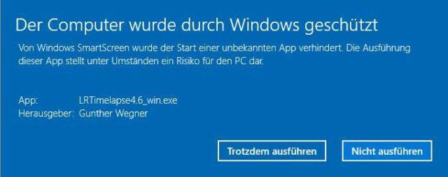 Smartscreen Prüfung unter Windows