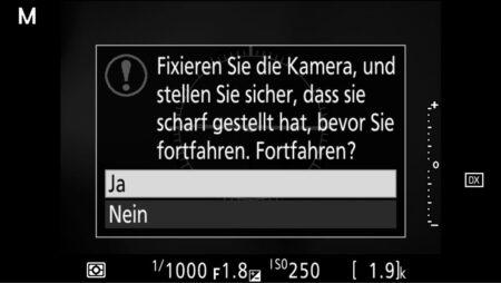 D500-AF-Kalibrierung
