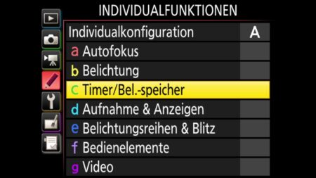 Individualfunktionen-Timer