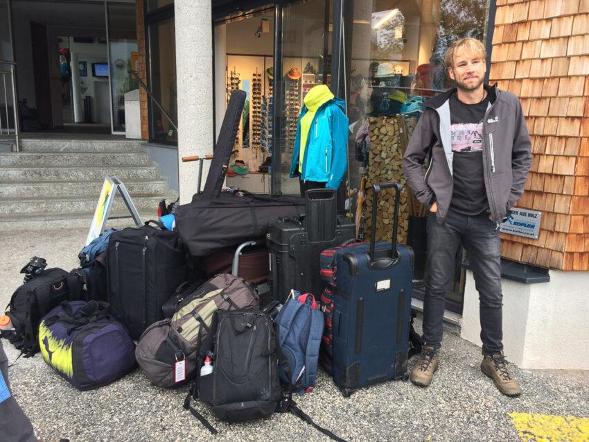Ne Menge Gepäck muss mit... Bild: Christoph