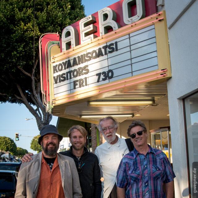 Die Jury des Timelapse Fim Festival Santa Monica: Peter Bill, Gunther Wegner, Godfrey Reggio, Casey Kiernan
