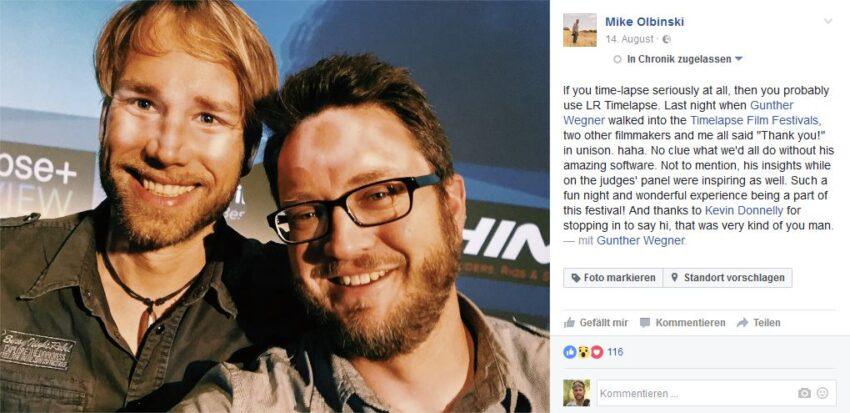 Facebook Post von Mike Olbinski