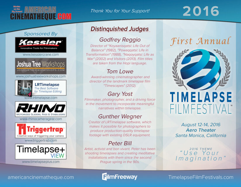 Time Lapse Film Festival 2016 - Sponsoren und Juroren