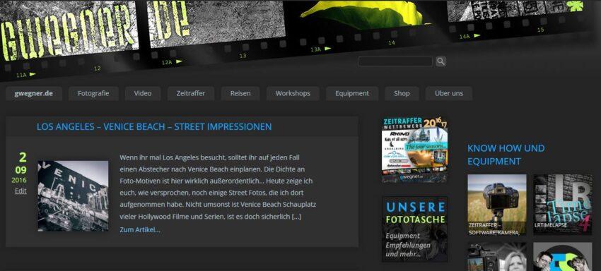 Hier nochmal das alte Erscheinungsbild von gwegner.de