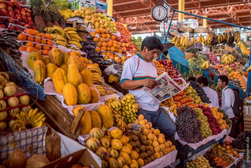Markt in Arequipa - die Fülle an frischen Früchten ist schier überwältigend.