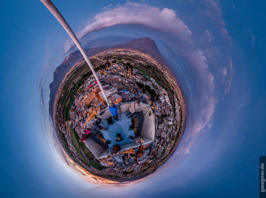 Little Planet von der Sunset-Session