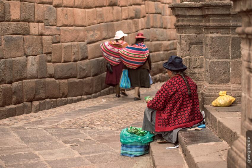 Coca Verkäuferin in Cusco