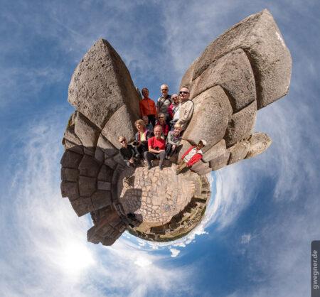 Little Planet unserer Gruppe in der Inka-Stätte Sacsayhuamán