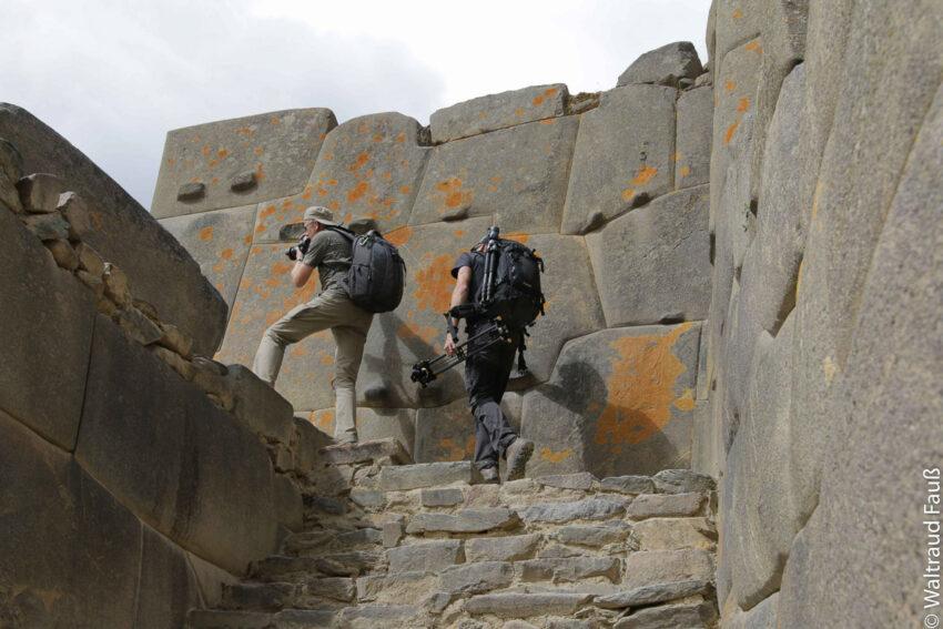 Mit Zeitraffer Equipment auf die Ruinen. Foto: Waltraud Fauss Berghus