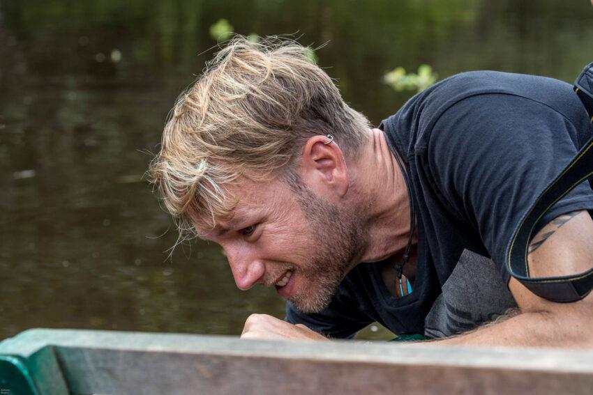 ...und ab ins Wasser... Foto: Karl-Heinz Berghus