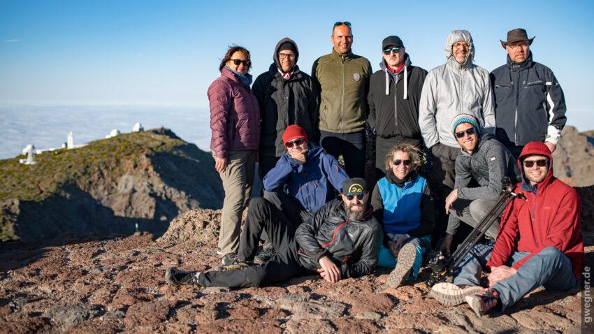 Meine Gruppe auf dem Roque de los Muchachos!