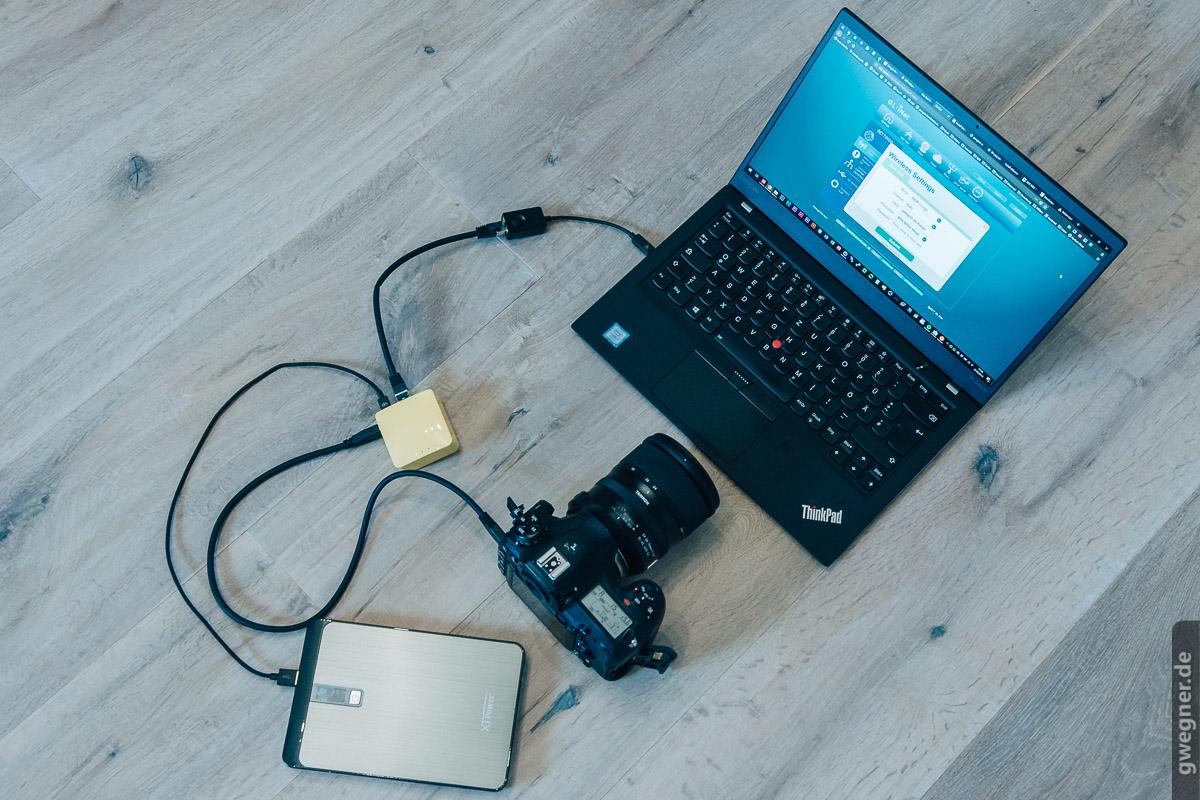 WLAN für Nikon, Canon, Sony Kameras mit Mini WLAN Router für