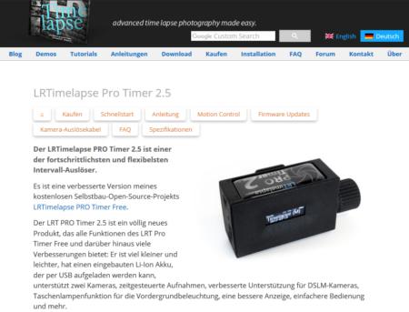 LRTimelapse Pro Timer 2.5