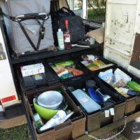 Proaktisch: die Schublade mit den Campingsachen