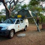 Unser Camp im Khama Rhino Sanctuary