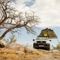 Unser Stellplatz in den Makgadikgadi Pans