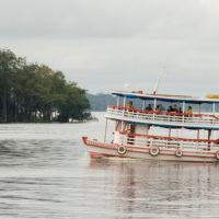 Eines der typischen Amazonas Boote