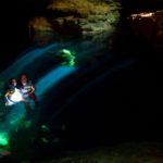 Schwimmen im Poço Azul