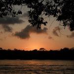 Sunset über dem Kanal von Tortuguero