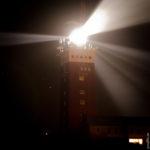 Der Helgoländer Lechtturm bei Nacht