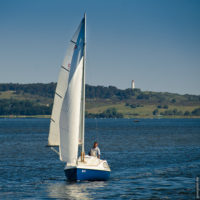 Segelboot vor Hiddensee