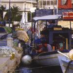 Fischer im Hafen, Pellopones - Griechenland