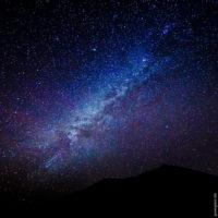 Wunderbare Milchstraße von Teneriffa aus gesehen