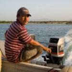 Der Fischer, der uns rüberfährt nach Coche