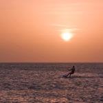Nico Kitet in den Sonnenuntergang...