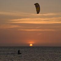 Sunset auf Coche Island
