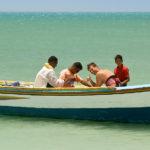 Rückfahrt mit den Fischern