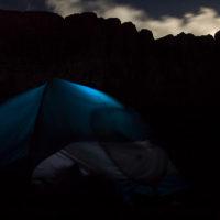 Nacht unter dem Roraima... Morgen nehmen wir den Aufstieg in Angriff!
