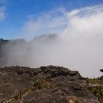 Immer wieder ziehen Wolken über den Roraima