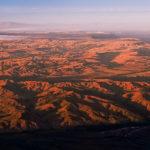 Ein Panorama wie eine topografische Landkarte